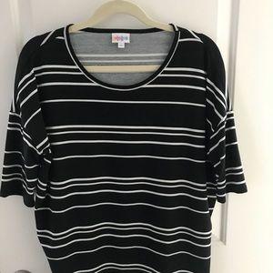 LulaRoe size XS Irma black and white stripe